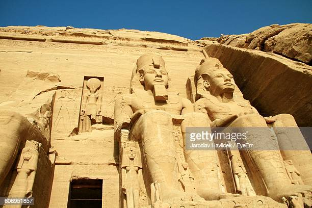 Close-Up Of Pharaoh Statue At Luxor Temple