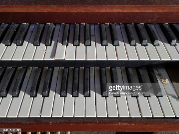 close-up of piano keys - borough of lewisham stock pictures, royalty-free photos & images