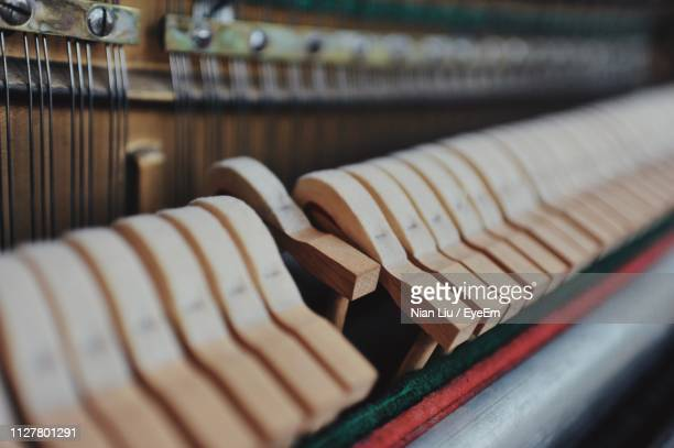 close-up of piano keys - keyboard instrument stock photos and pictures