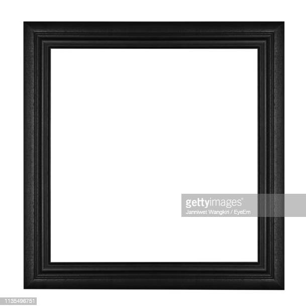 close-up of picture frame against white background - frame stock pictures, royalty-free photos & images