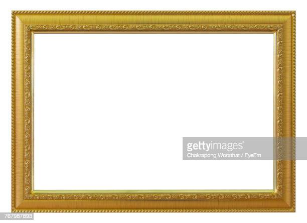 close-up of picture frame over white background - picture frame stock pictures, royalty-free photos & images