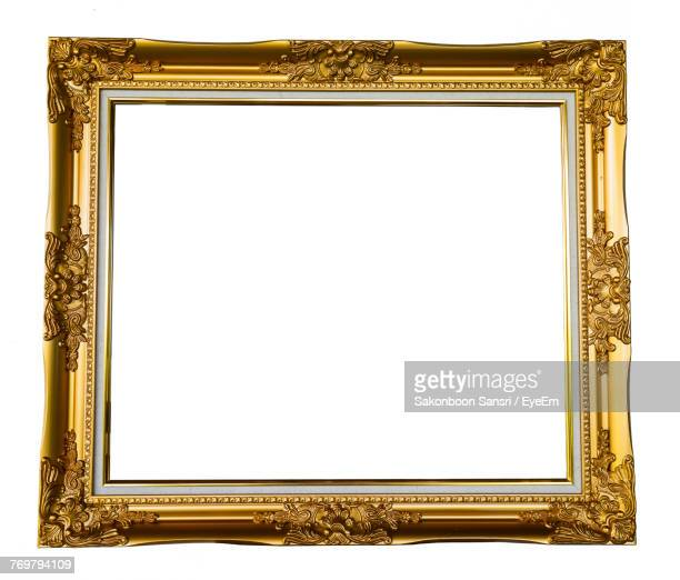 close-up of picture frame over white background - ornate stock pictures, royalty-free photos & images