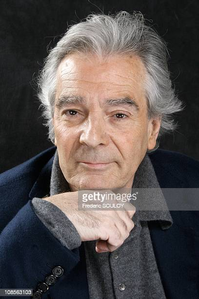 Closeup of Pierre Arditi actor in Paris France on February 02 2007