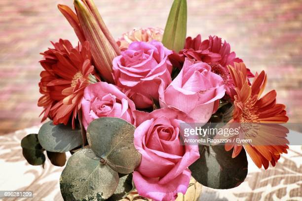 close-up of pink flower bouquet - antonella stock photos and pictures