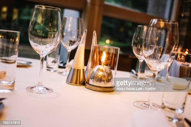 Close-Up Of Place Setting At Restaurant