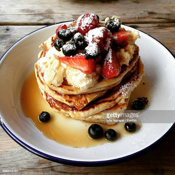 Close-Up Of Plate Of Pancakes