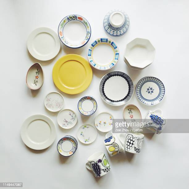 close-up of plates on white background - eyeem collection stock pictures, royalty-free photos & images
