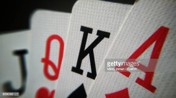 close-up of playing cards - poker stock-fotos und bilder