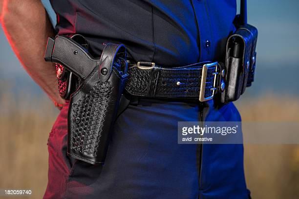 detalhe do cinto de polícia - armamento - fotografias e filmes do acervo