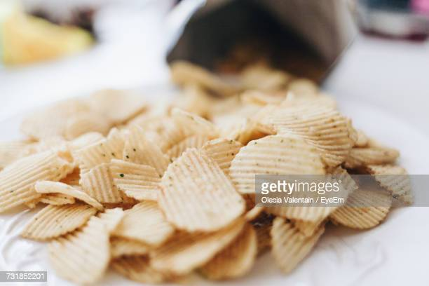 Close-Up Of Potato Chips