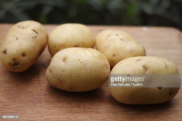 Close-Up Of Potatoes On Table