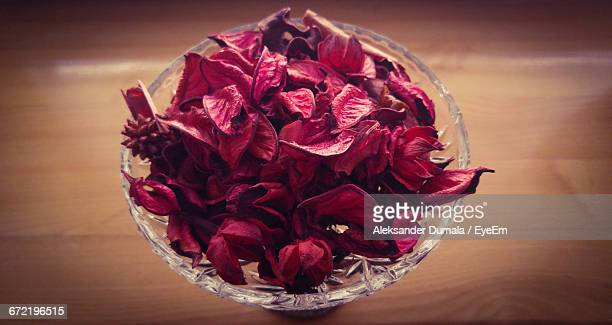 Close-Up Of Potpourri On Wooden Table