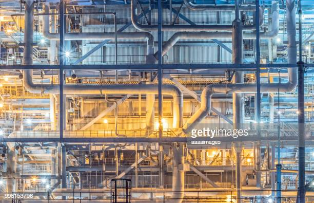 closeup of power plant equipment,pipelines - power station stock pictures, royalty-free photos & images