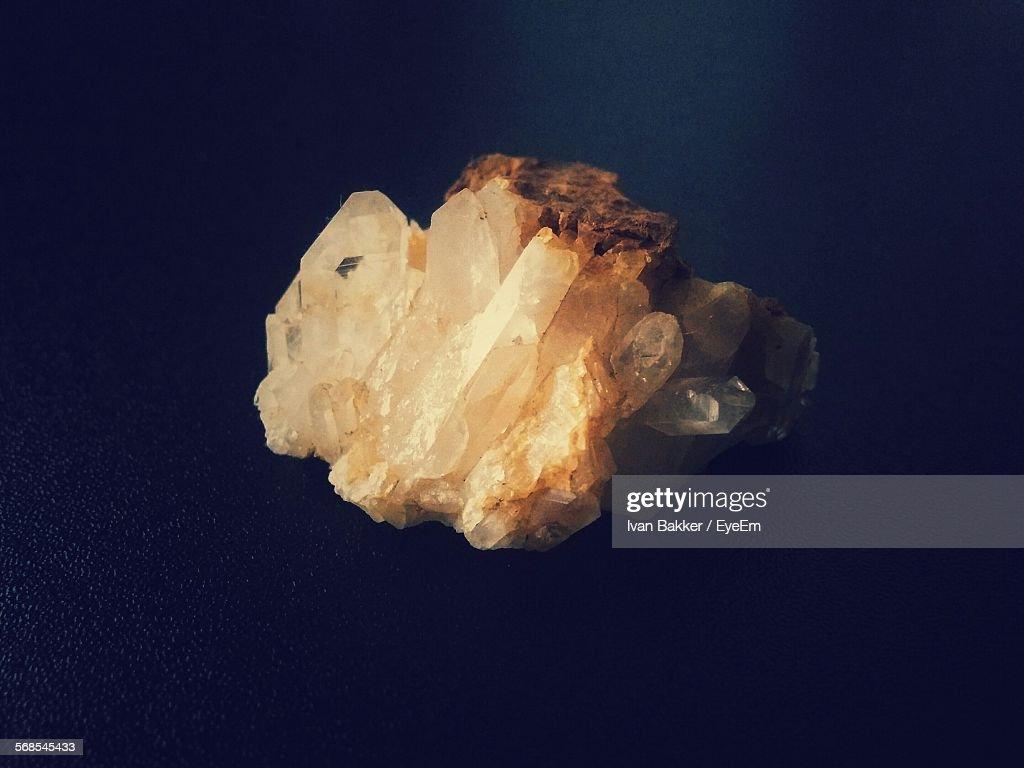 Close-Up Of Precious Stone Against Black Background : Stock Photo