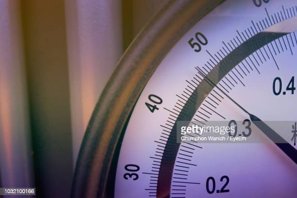 close-up of pressure gauge - pressure gauge stock photos and pictures