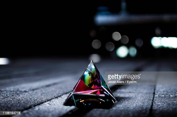 close-up of prism on table - jesse stock pictures, royalty-free photos & images