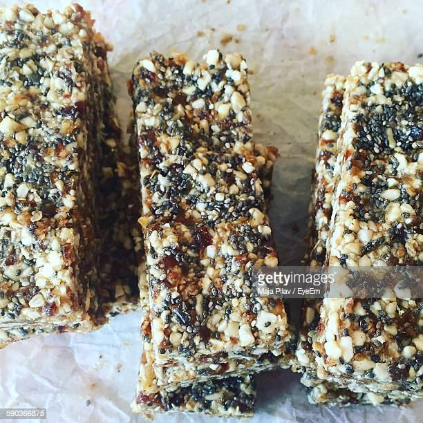 Close-Up Of Protein Bars