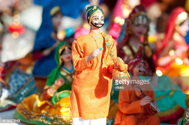 close-up of puppets at market stall - puppet show stock photos and pictures