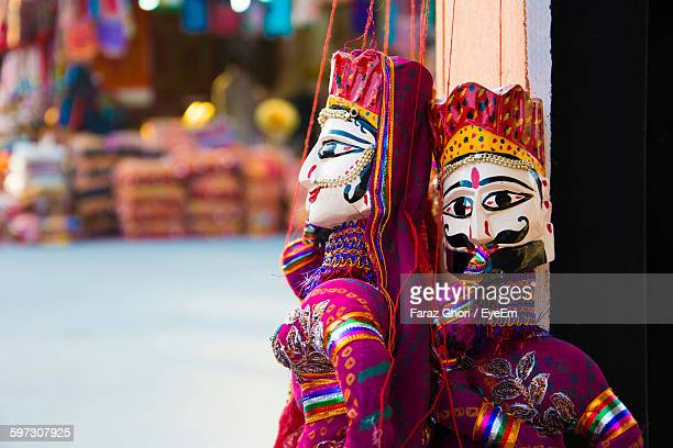 Close-Up Of Puppets