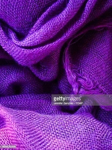 Close-up of purple scarf
