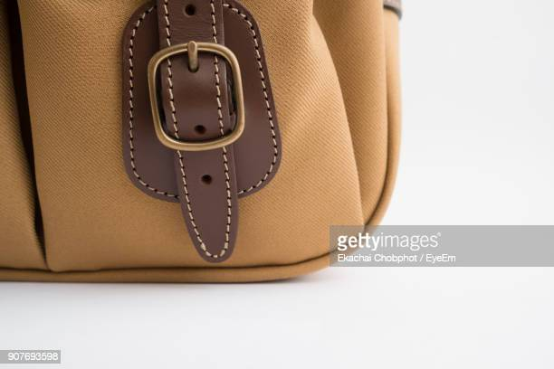close-up of purse over white background - strap stock photos and pictures