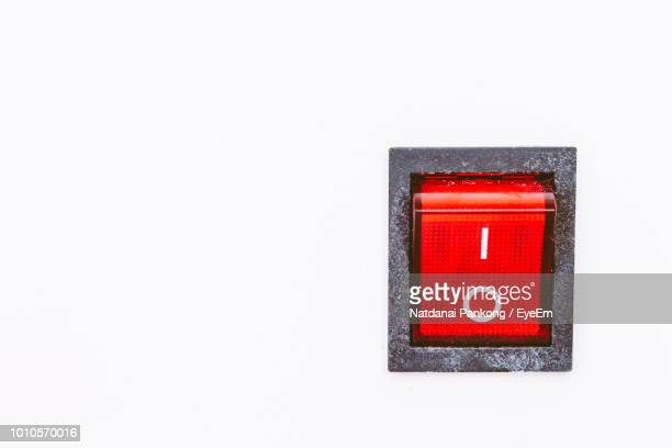 close-up of push button against white background - push button stock pictures, royalty-free photos & images