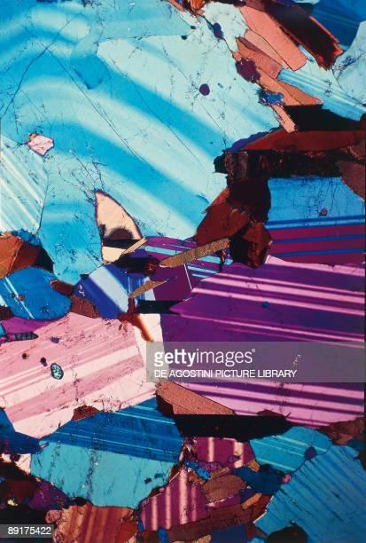 Closeup of pyroxene biotite