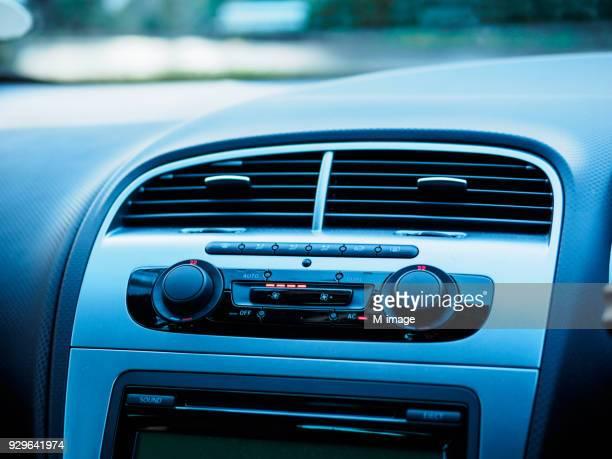 Close-Up Of Radio In Car
