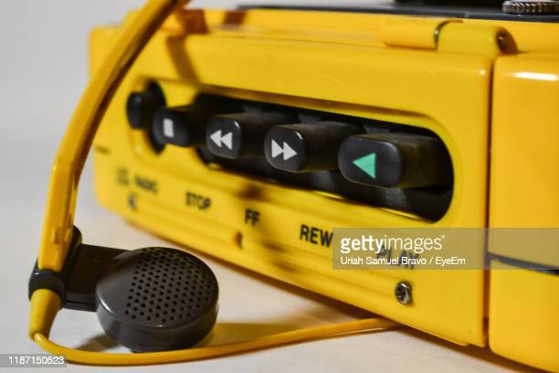 close-up of radio on table - personal stereo stock pictures, royalty-free photos & images