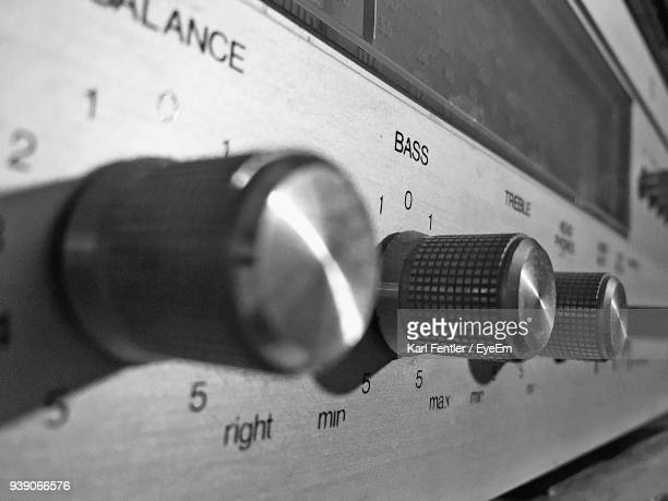 close-up of radio - hi fi stock pictures, royalty-free photos & images