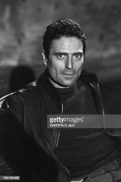 Close-Up Of Raf Vallone. France, Paris, 13 mars 1958, Raf VALLONE, acteur et metteur en scène italien, tient le rôle principale dans la pièce 'Vu du...