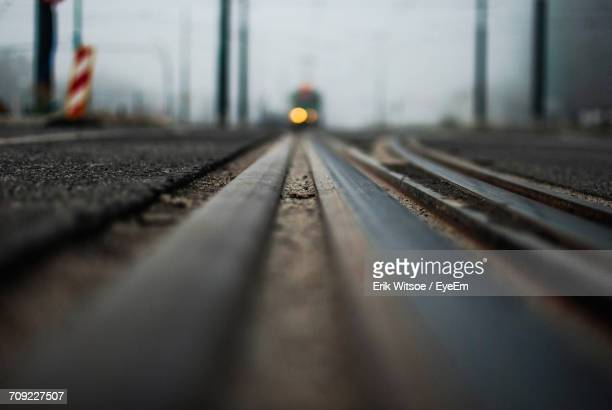 close-up of railroad track - railroad track stock pictures, royalty-free photos & images