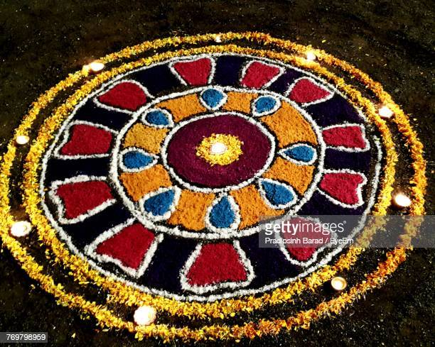 close-up of rangoli - rangoli stock pictures, royalty-free photos & images
