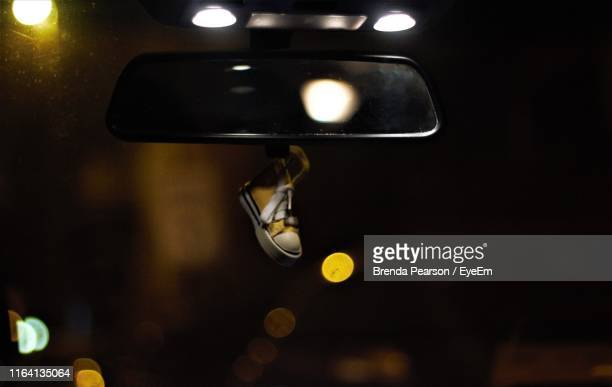 close-up of rear-view mirror in car - rear view mirror stock pictures, royalty-free photos & images