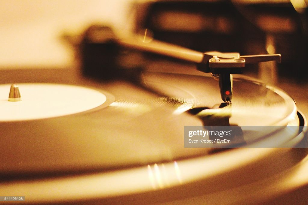 Close-Up Of Record : Stock Photo