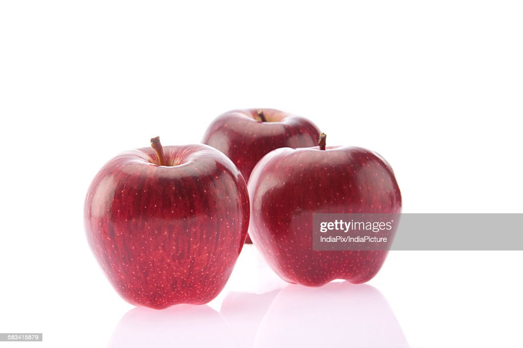 Close-up of red apples : Stock Photo