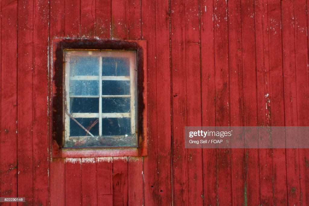 Close-up of red barn : Stock Photo