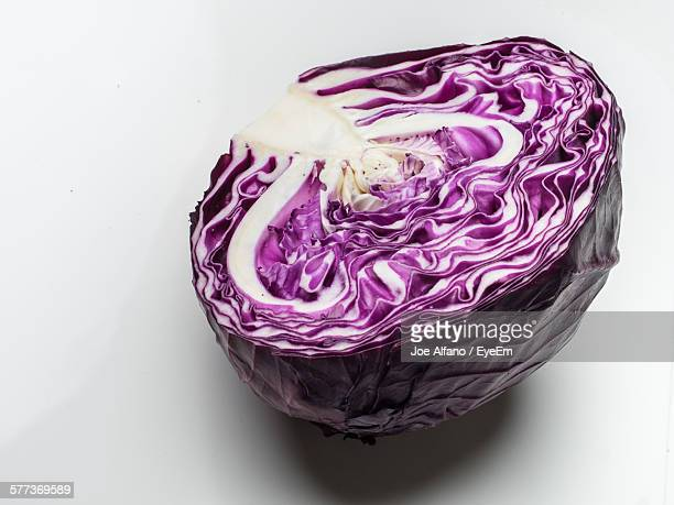 Close-Up Of Red Cabbage On Table