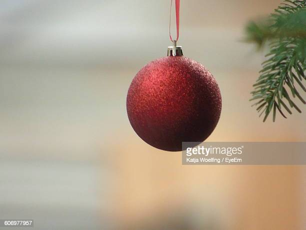 Close-Up Of Red Christmas Ornament