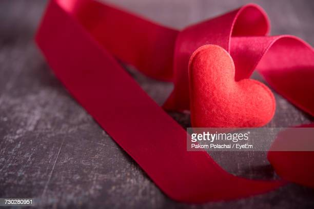 Close-Up Of Red Ribbon
