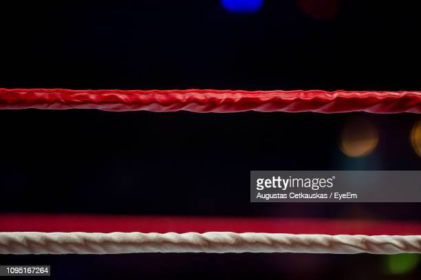 Close-Up Of Red Rope At Boxing Ring
