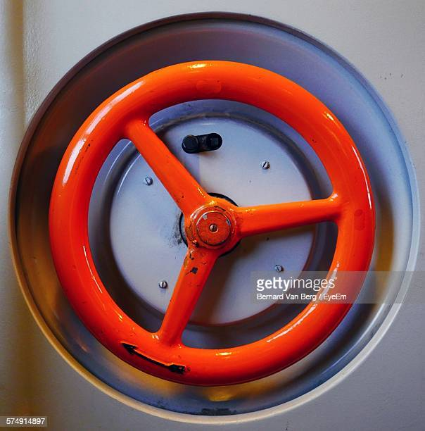 close-up of red wheel - handle stock pictures, royalty-free photos & images