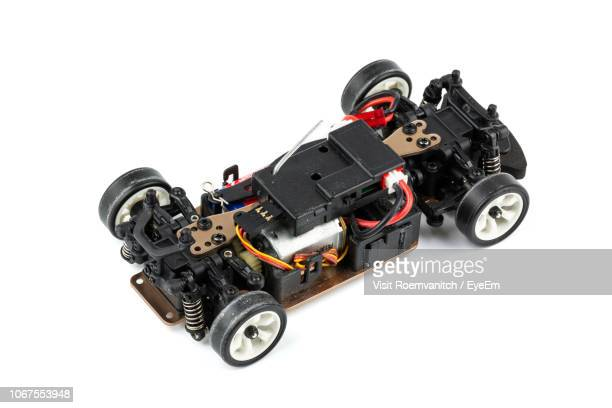 close-up of remote controlled car over white background - remote controlled stock photos and pictures