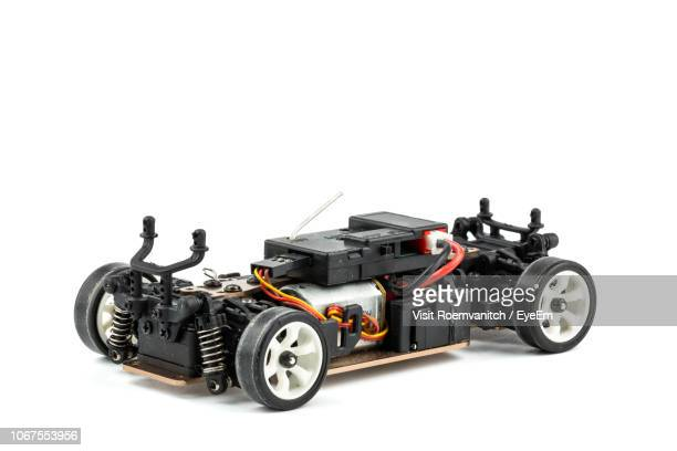 close-up of remote controlled car over white background - remote controlled car stock pictures, royalty-free photos & images