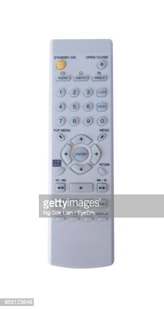 close-up of remote over white background - remote control stock pictures, royalty-free photos & images