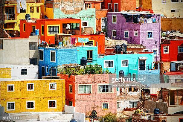 close-up of residential structures - guanajuato stock pictures, royalty-free photos & images
