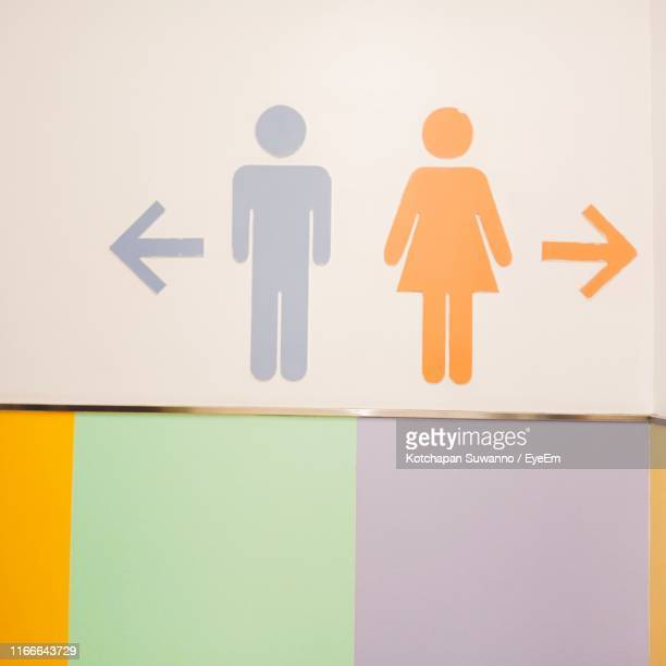 close-up of restroom signs on wall - male likeness stock pictures, royalty-free photos & images