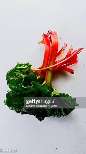 Close-Up Of Rhubarb On Table