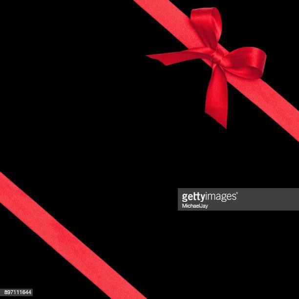 Close-Up Of Ribbon On Black Background