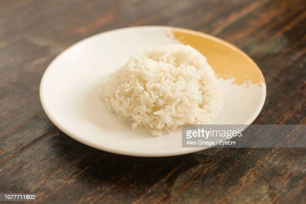 Close-Up Of Rice In Plate On Table